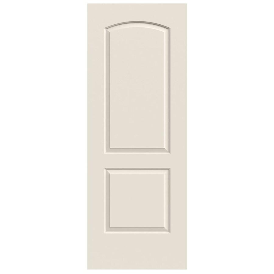 JELD-WEN (Primed) Solid Core 2-Panel Round Top Slab Interior Door (Common: 24-in x 80-in; Actual: 24-in x 80-in)