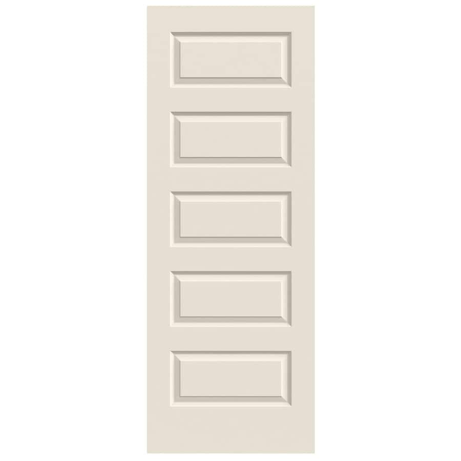 Shop Jeld Wen Primed Solid Core 5 Panel Equal Slab Interior Door Common 32 In X 80 In