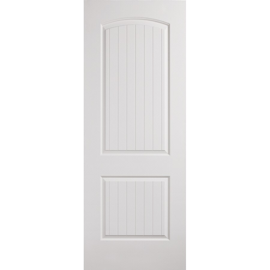 ReliaBilt Hollow Core 2-Panel Round Top Plank Slab Interior Door (Actual: 32-in x 80-in)