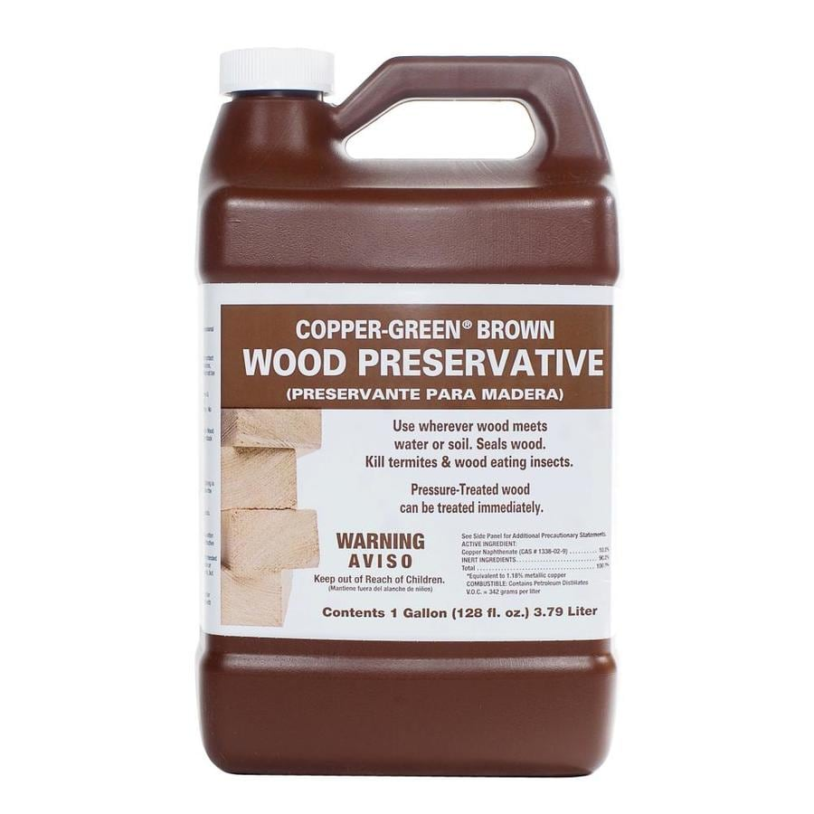 Shop Copper Green Brown Wood Preservative Gallon Bottle At