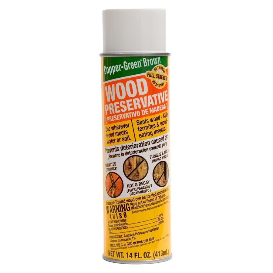 Shop Copper Green Brown Wood Preservative Spray Can At