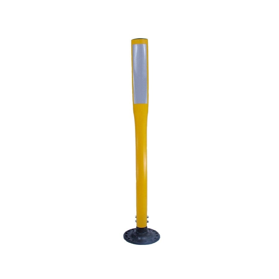 Three D Traffic Works 42-in Flat Boomerang Traffic Yellow Post and Base