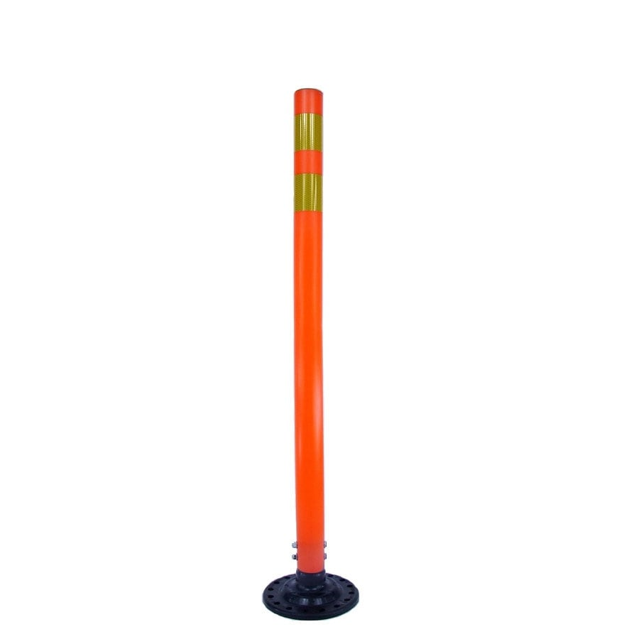 Three D Traffic Works 42-in Round Boomerang Traffic Orange Post and Base