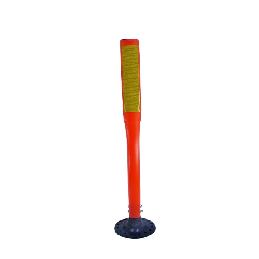 Three D Traffic Works 36-in Flat Boomerang Traffic Orange Post and Base