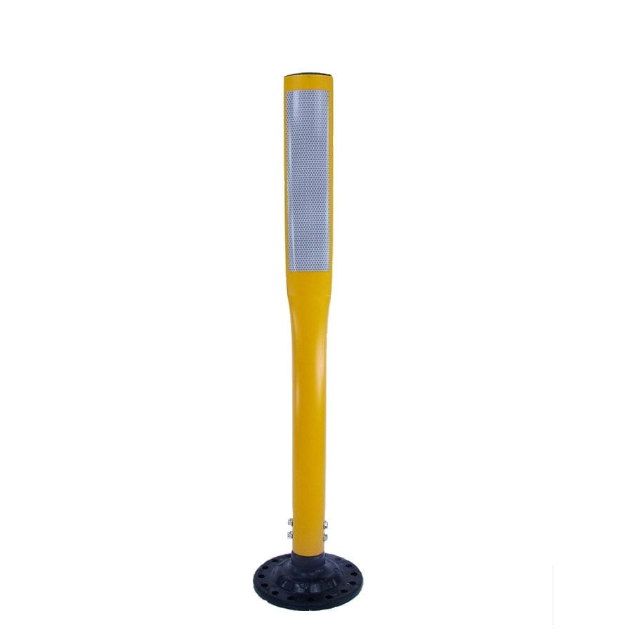 Three D Traffic Works 36-in Flat Boomerang Traffic Yellow Post and Base
