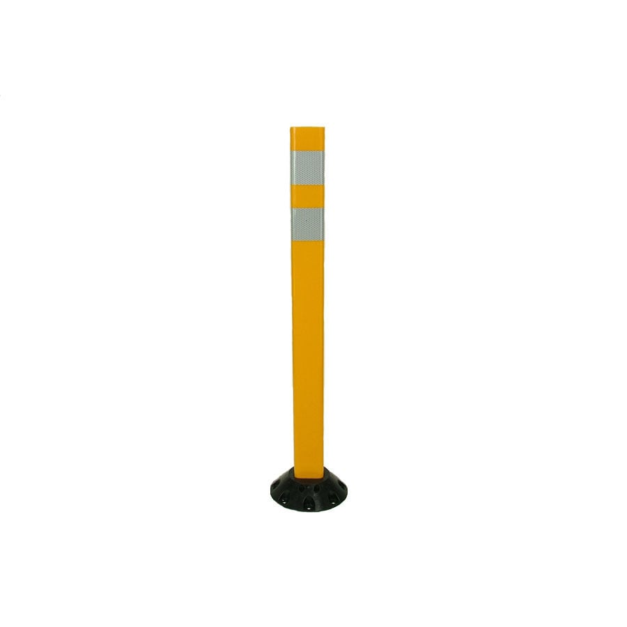 Three D Traffic Works 36-in Post Workzone Yellow Post and Base