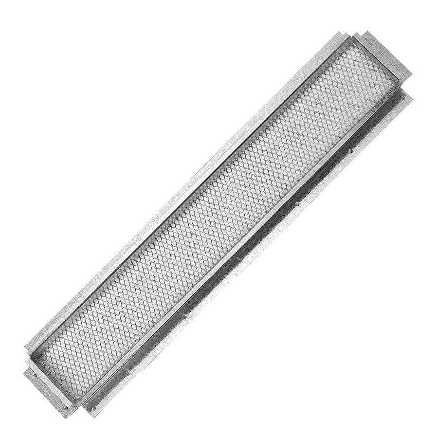 CMI 16.25-in L Silver Galvanized Steel Soffit Vent
