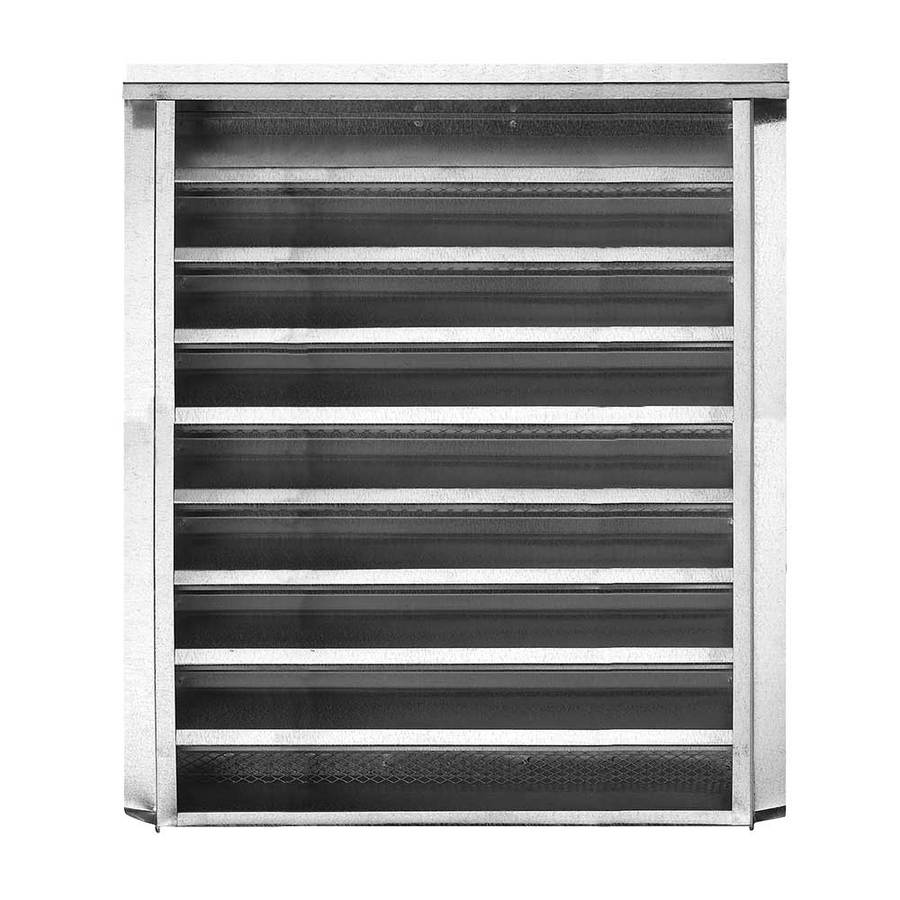 CMI 18.25-in x 24.25-in Silver Rectangle Steel Gable Vent