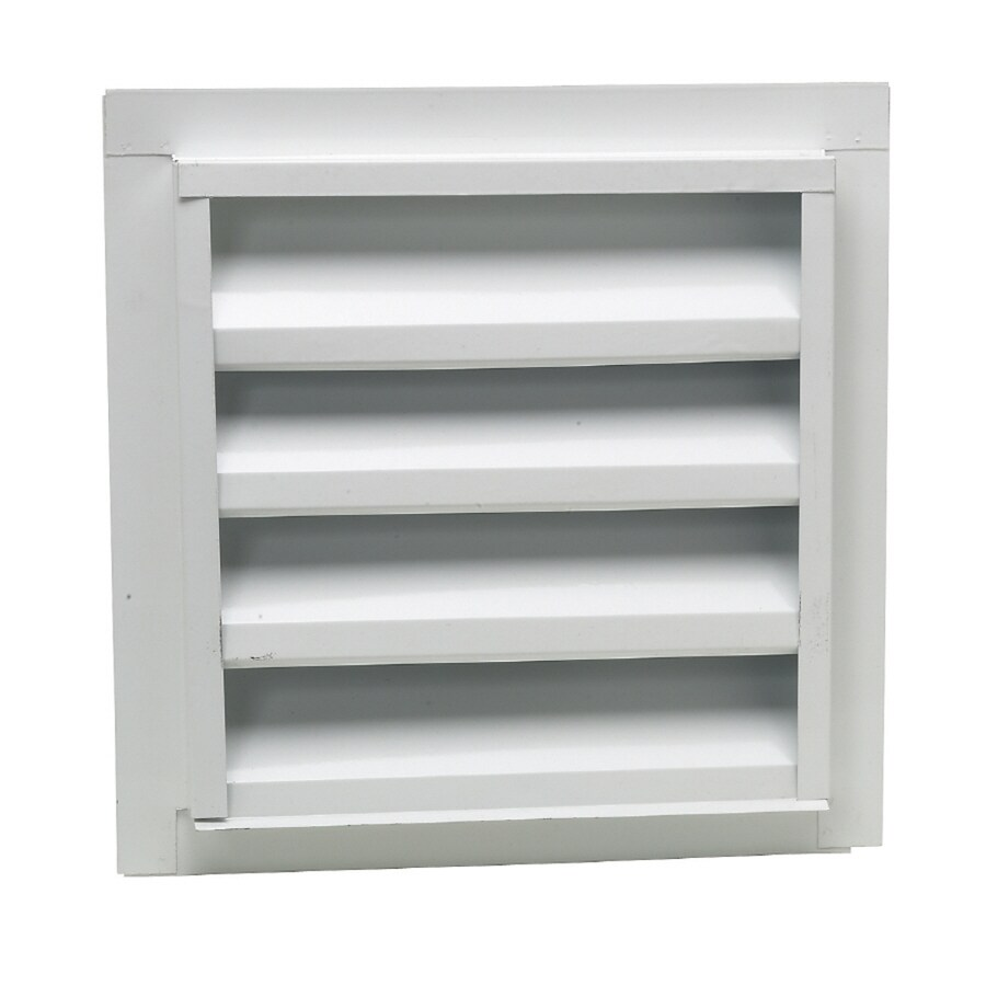 CMI 12.25-in x 18.25-in White Rectangle Steel Gable Vent