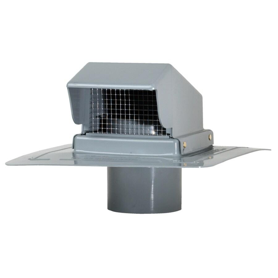 CMI Gray Plastic Square Roof Louver