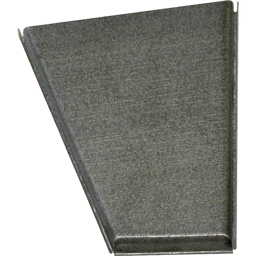 Metal K Style Right Gutter End Cap