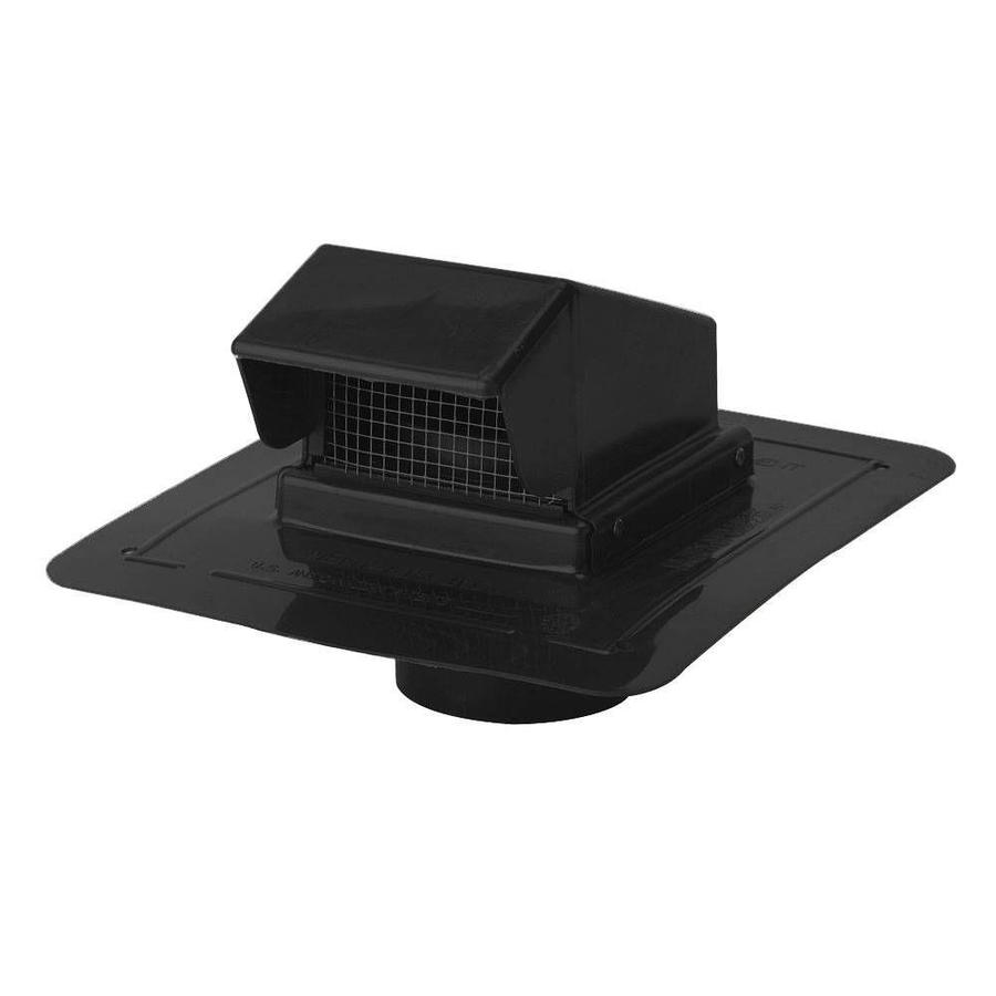 Construction Metals Inc. Black Plastic Square Roof Louver