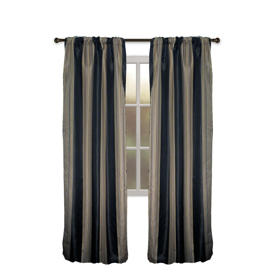 allen + roth Northfield 63-in Pewter Polyester Rod Pocket Single Curtain Panel