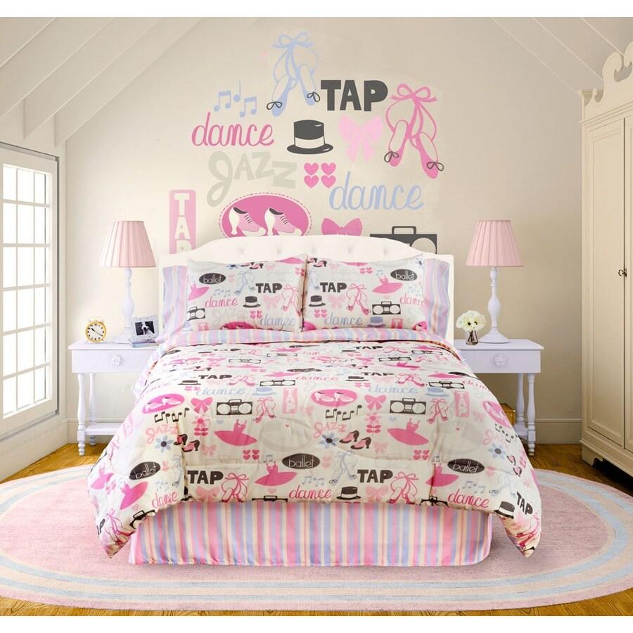 4-Piece Little Dancer Raspberry Queen Comforter Set