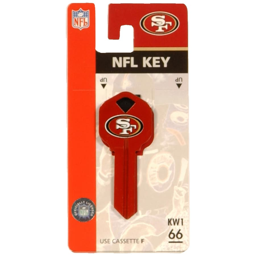 The Hillman Group San Francisco 49ers Brass House/Entry Key Blank
