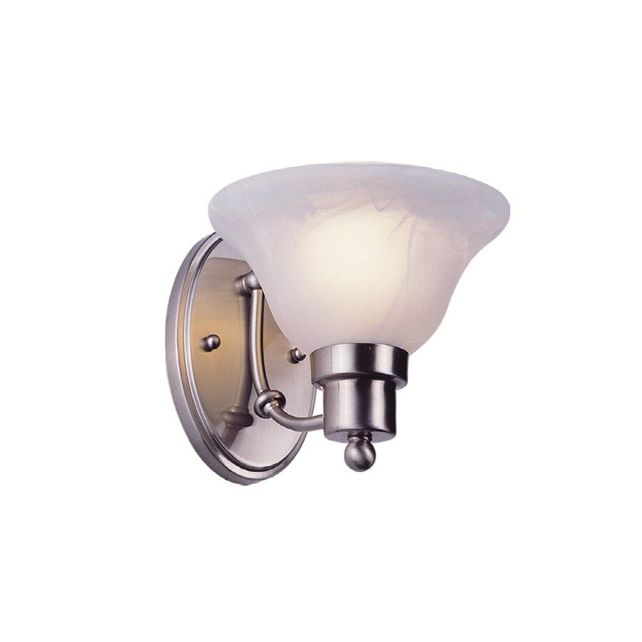 Bel Air Lighting Back to Basics 7.25-in W 1-Light Brushed Nickel Arm Hardwired Wall Sconce