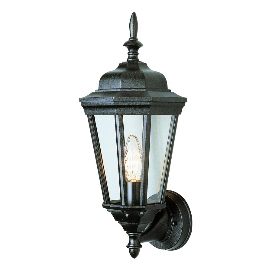 Bel Air Lighting 17.25-in H Black Outdoor Wall Light