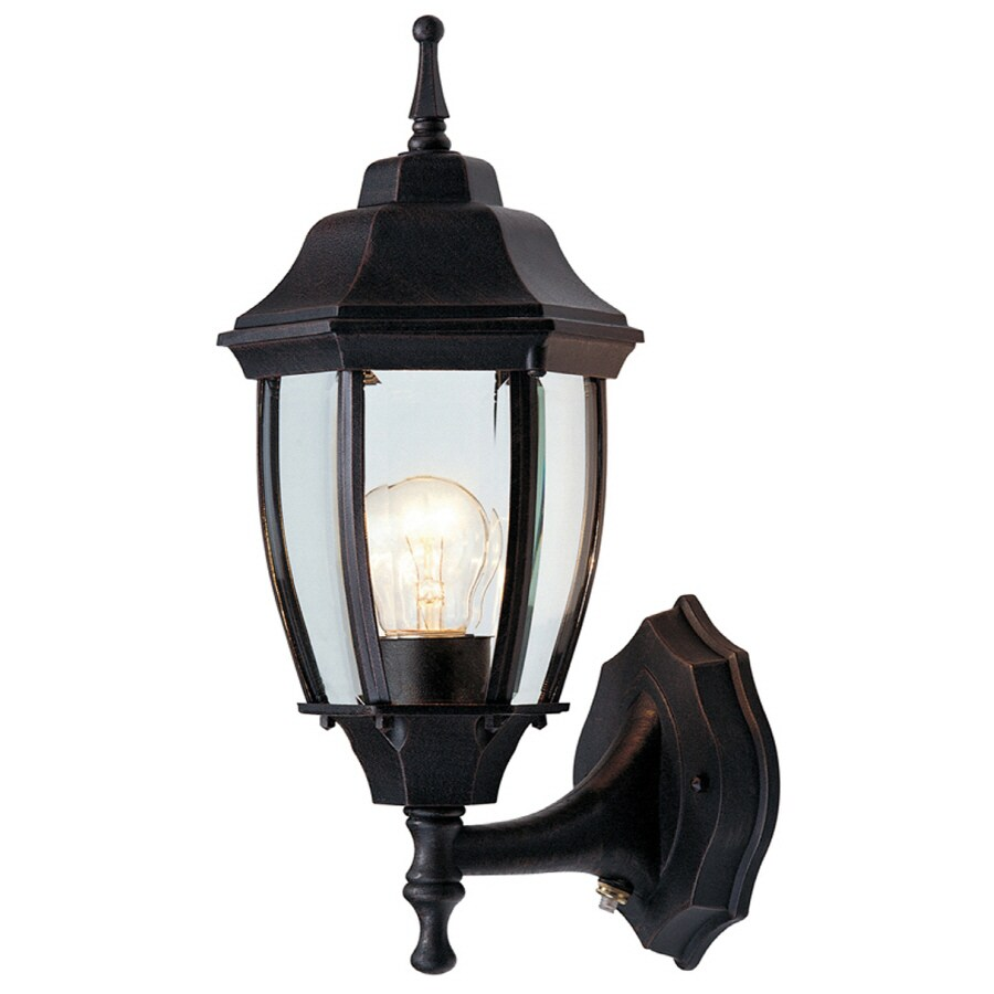 Shop Portfolio 2 Pack 14 5 In H Rust Outdoor Wall Lights At