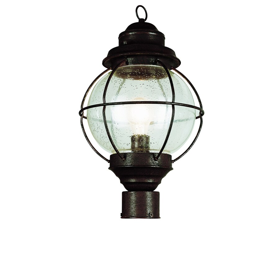 Bel Air Lighting 19-in H Black Post Mount