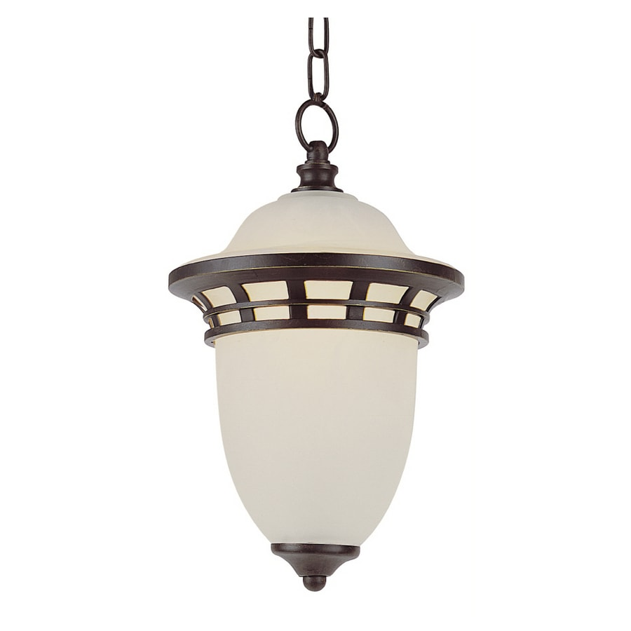 Bel Air Lighting 15-in H Bronze Outdoor Pendant Light