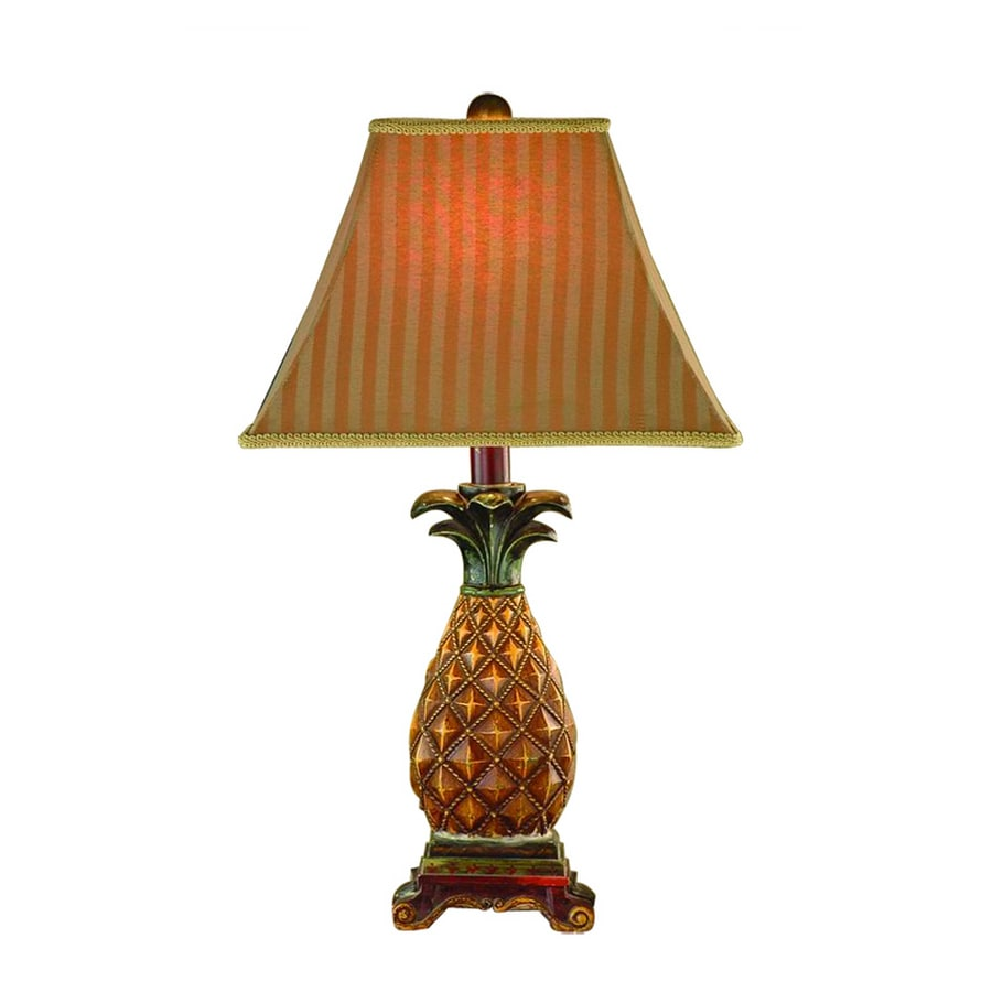 "Bel Air Lighting 28""H Pineapple Table Lamp with Gold Shade"