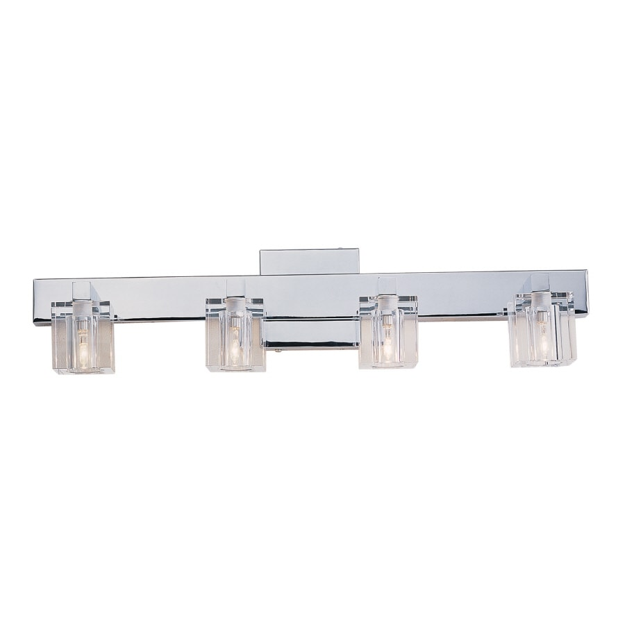Portfolio 4-Light Polished Chrome Bathroom Vanity Light