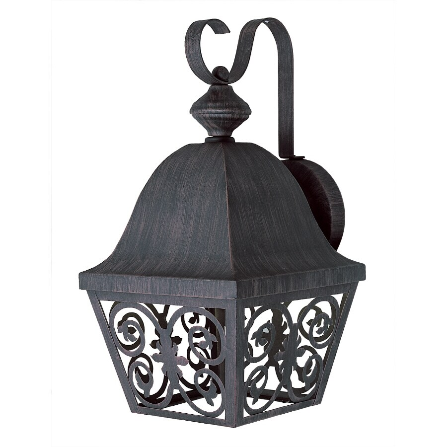 Bel Air Lighting 15.5-in H Antique Rust Outdoor Wall Light