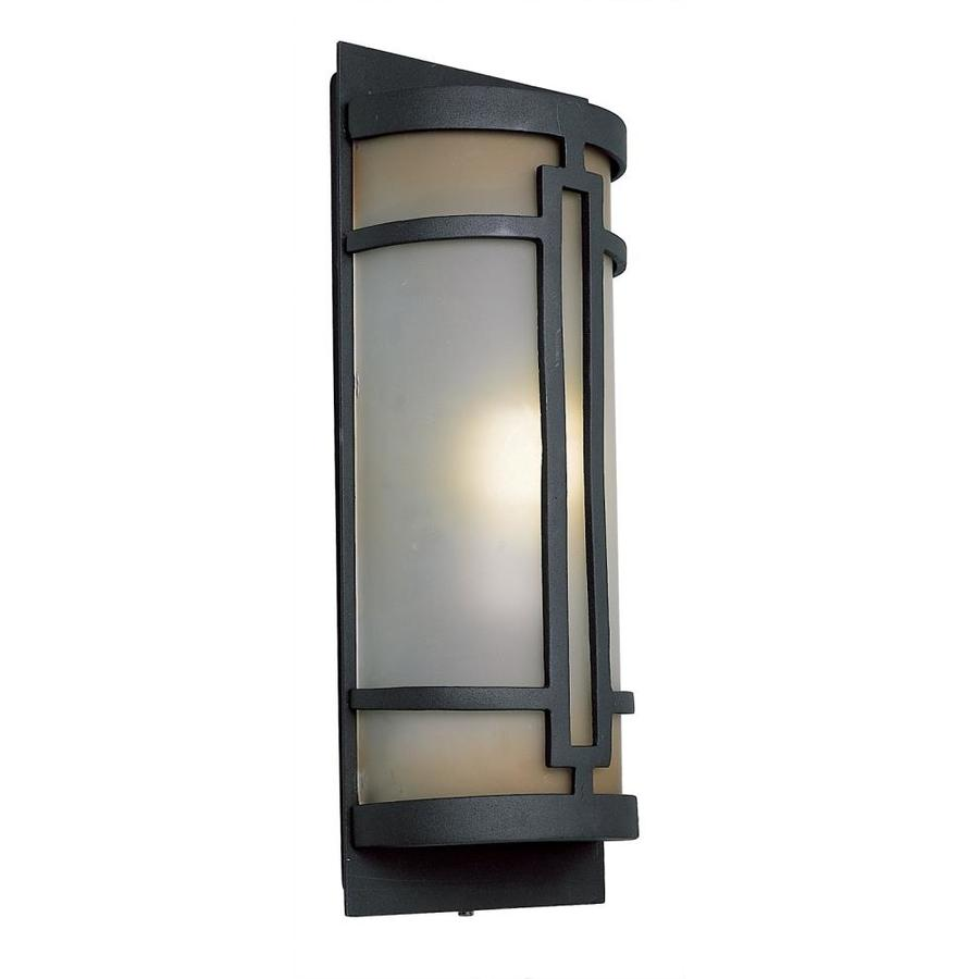 Portfolio 17-in H Black Outdoor Wall Light ENERGY STAR