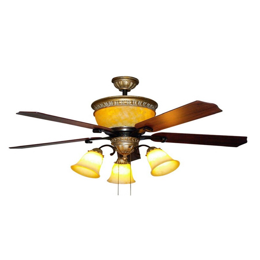 Bel Air Lighting 52-in Downrod Mount Indoor Ceiling Fan with Light Kit (4-Blade)