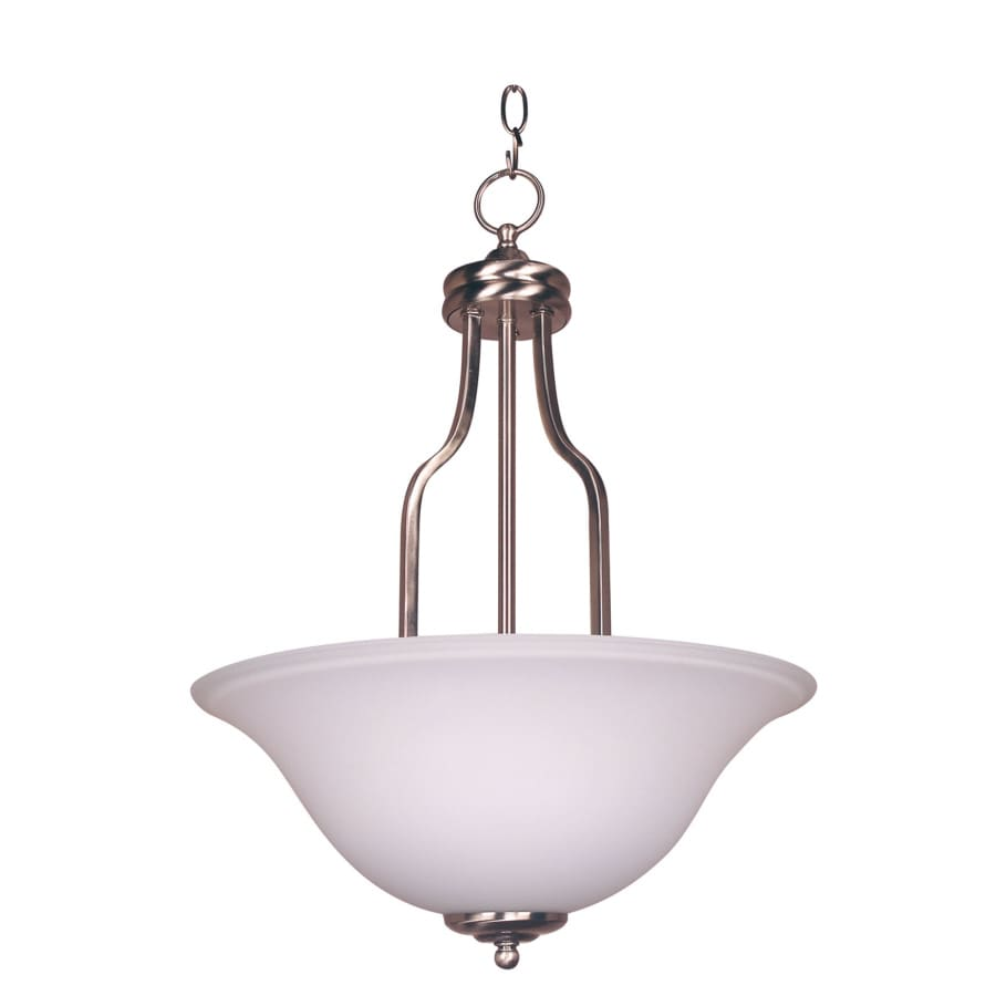 Bel Air Lighting 16-in W Kitchen Island Light with White Glass Shade