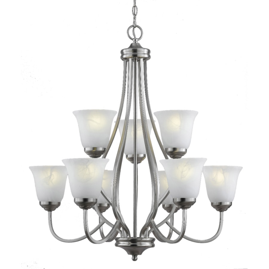 Bel Air Lighting 9-Light Brushed Nickel Chandelier