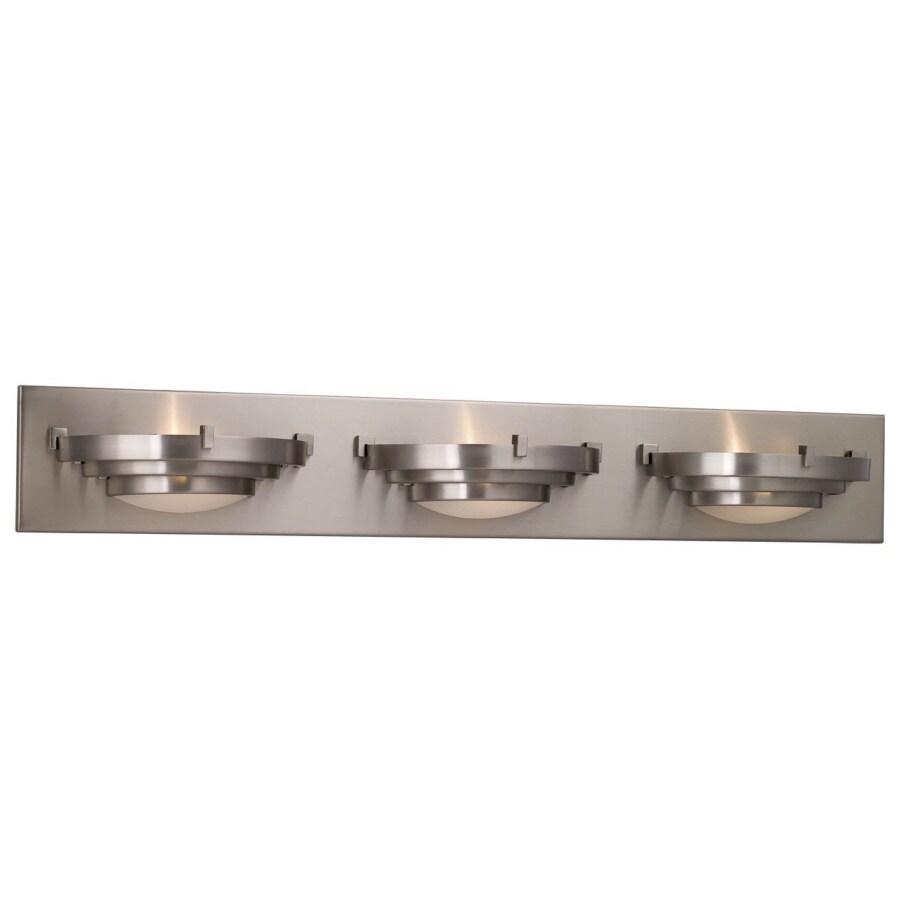 Portfolio 3-Light Brushed Nickel Bathroom Vanity Light