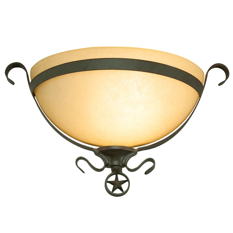 Portfolio Texas Star 16-in W 1-Light Darkened Bronze Pocket Hardwired Wall Sconce