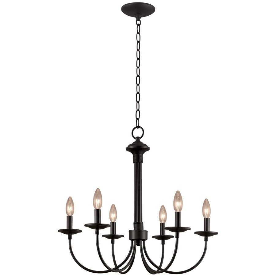 Portfolio 6-Light New Century Black Chandelier