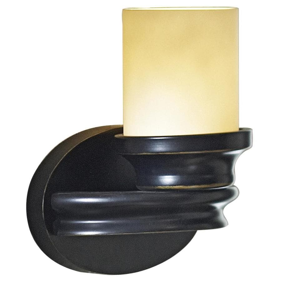 allen + roth 8-in W 1-Light Dark Oil Rubbed Bronze Arm Hardwired Wall Sconce
