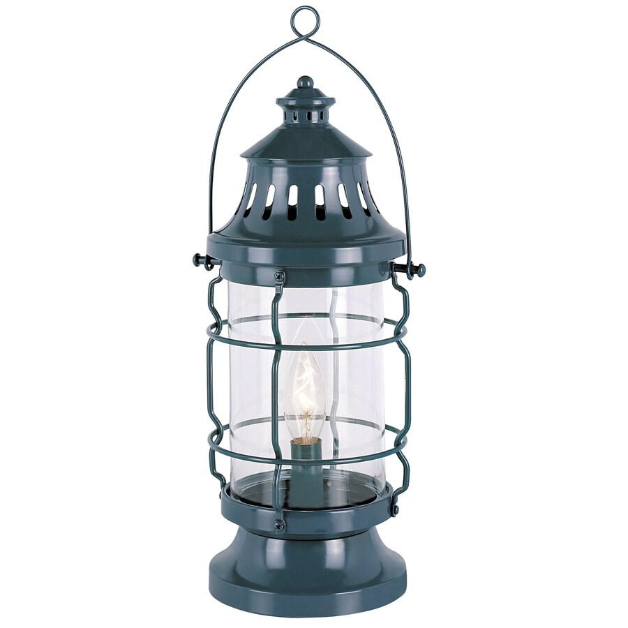Bel Air Lighting Seaside 16-in Ocean Blue Indoor Table Lamp with Glass Shade