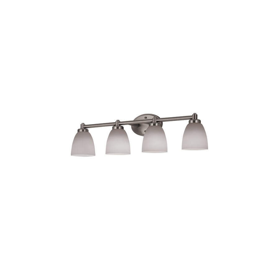Portfolio Delaware 4-Light Brushed Nickel Vanity Light
