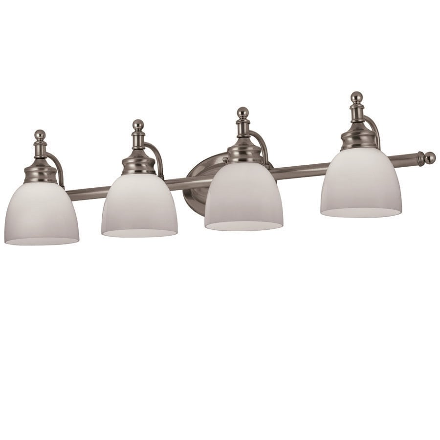 Portfolio 4-Light Antique Nickel Bathroom Vanity Light