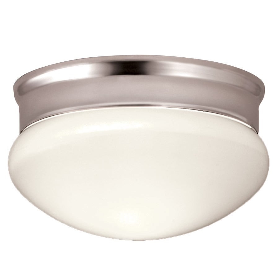 Portfolio 9.13-in W Polished Chrome Ceiling Flush Mount Light