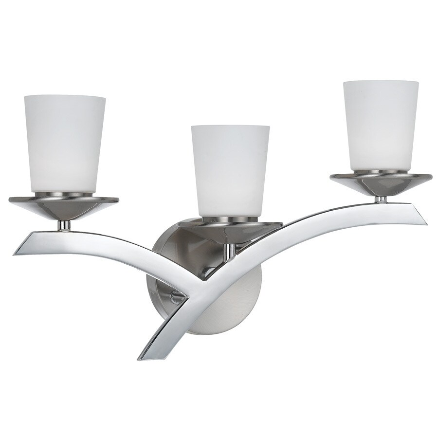 Bel Air Lighting 3-Light Brushed Nickel Vanity Light