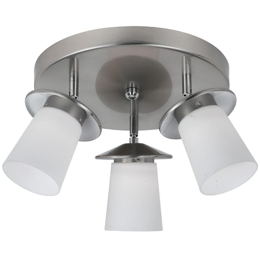 Bel Air Lighting 15-in W Brushed Nickel LED Ceiling Flush Mount