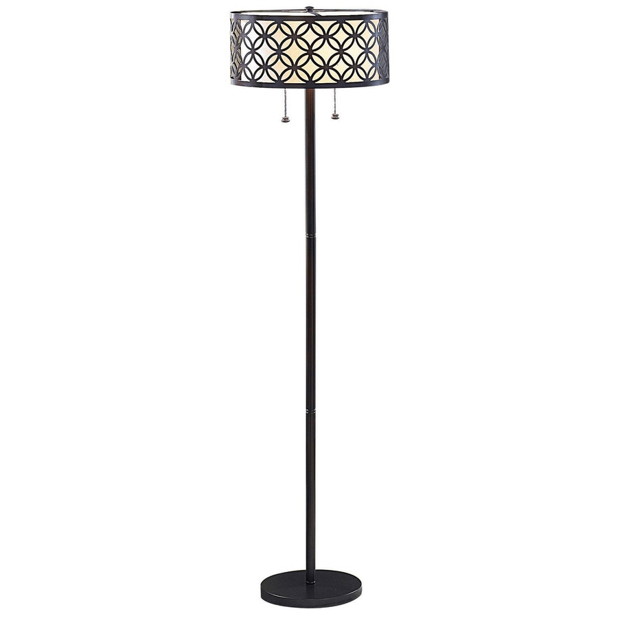 allen + roth 63-in Oil-Rubbed Bronze Standard Shaded Indoor Floor Lamp with Metal Shade