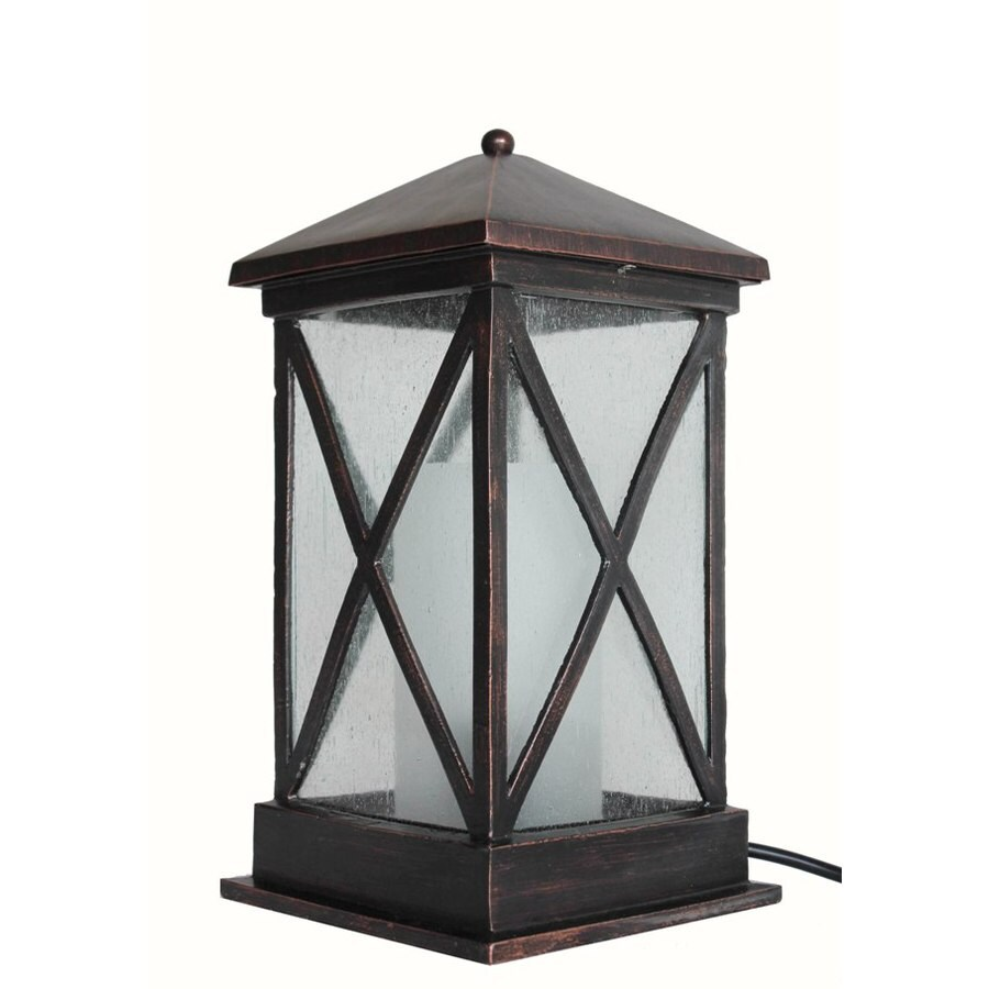 allen + roth 15-in Metal Plug-in Outdoor Table Lamp