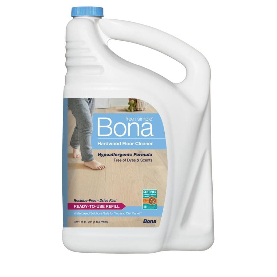 Shop bona free simple 128 fl oz hardwood floor cleaner for Wood floor cleaner bona