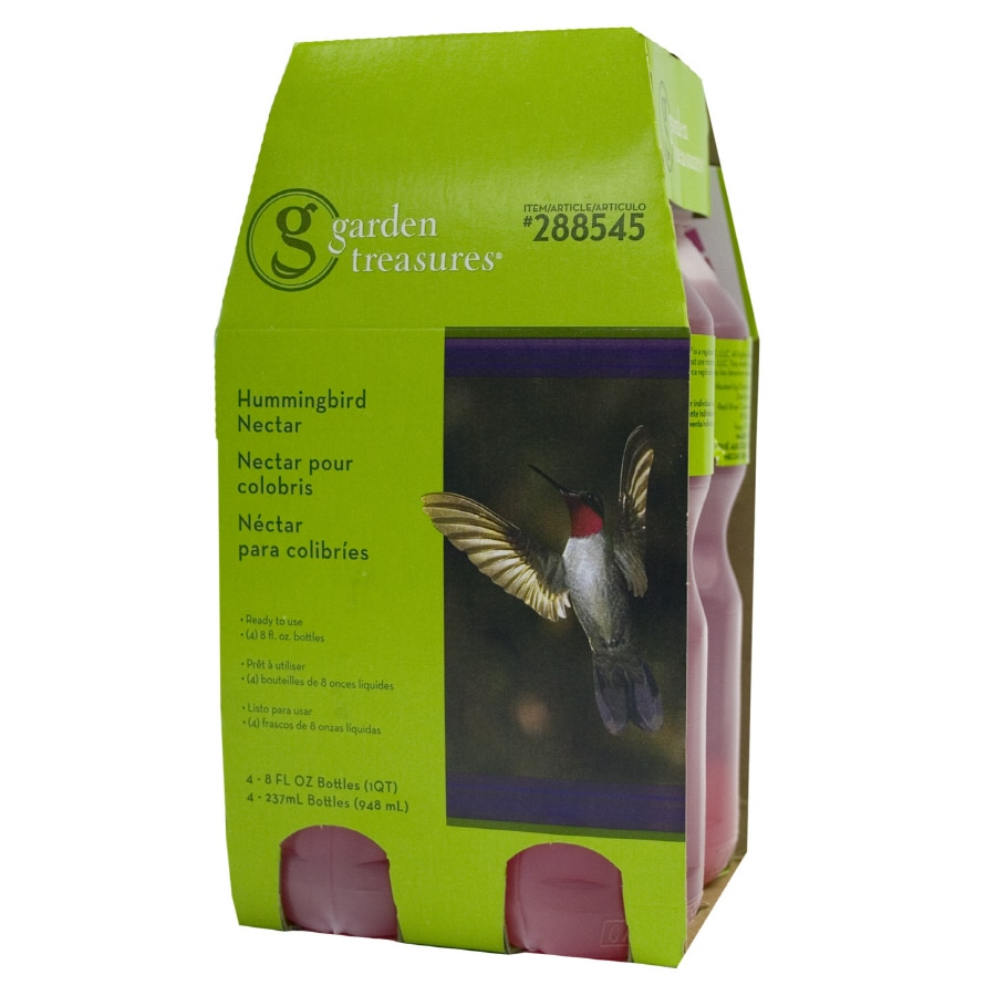 Garden Treasures 4-Pack 8-oz Hummingbird Ready-to-Use Nectar