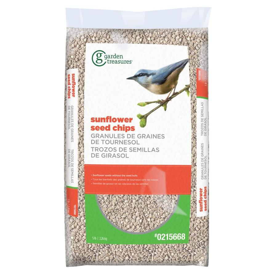 Garden Treasures Sunflower Chips 5-lb Bird Seed Bag (Hulled Sunflower Seed)