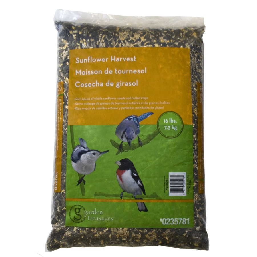 Garden Treasures Sunflower Harvest 16-lb Bird Seed Bag (Black Oil Sunflower)