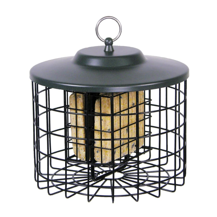 Garden Treasures Brown 2-Cake Squirrel-Resistant Metal Suet Feeder