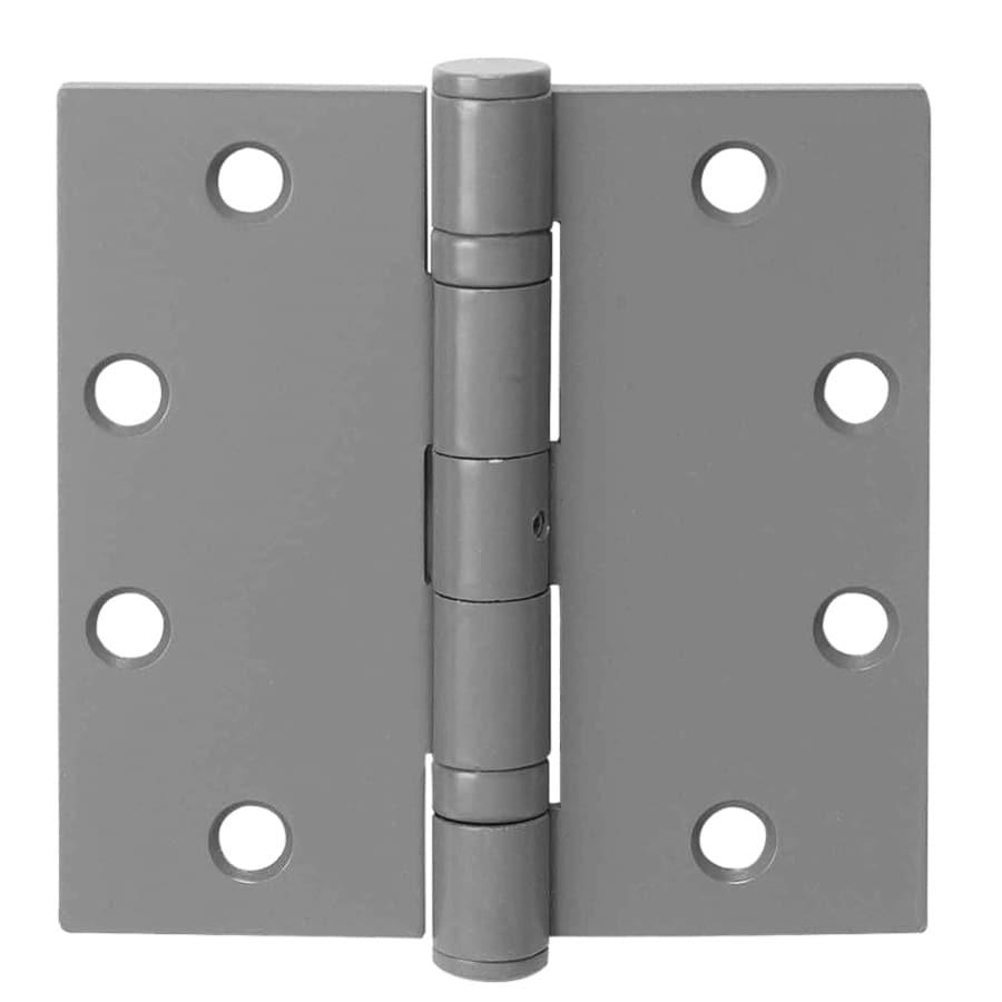 TELL MANUFACTURING, INC. 3-Pack 4.5-in H Gray Radius Exterior Mortise Door Hinge