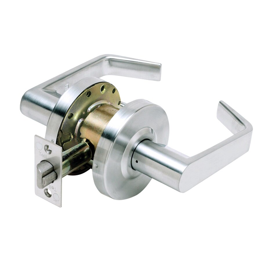TELL MANUFACTURING, INC. LC2600 Silver-Handed Passage Door Lever